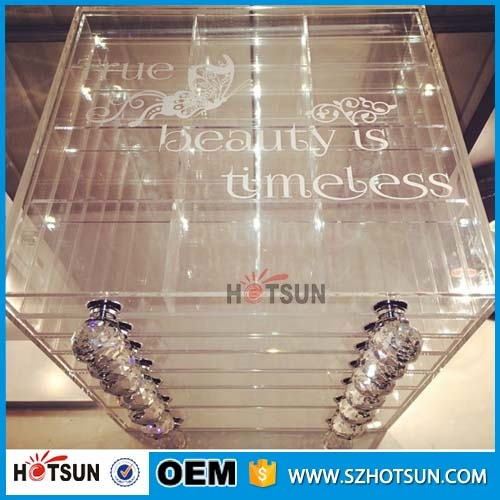 Wholesale 7 Tier Clear Acrylic Makeup Cosmetic Organizer