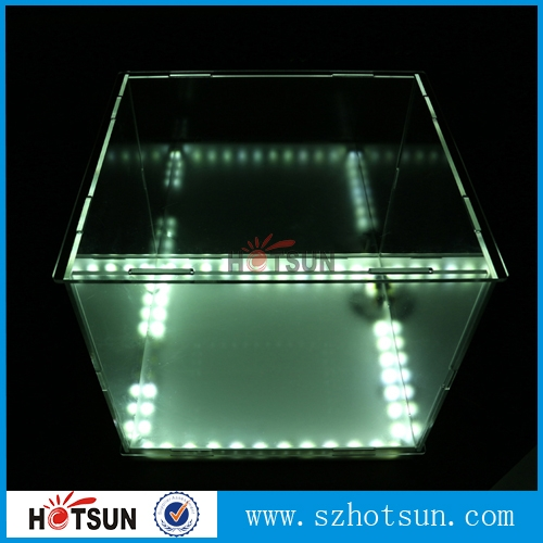 Customized Acrylic Display Box With Led Light Illuminated
