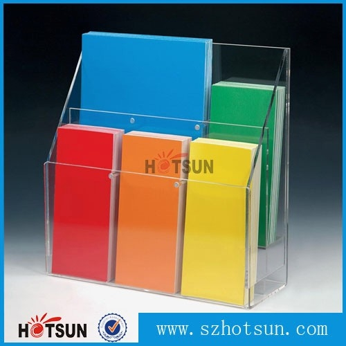 Professional design plastic clear acrylic brochure holders for Plastic flyer stand